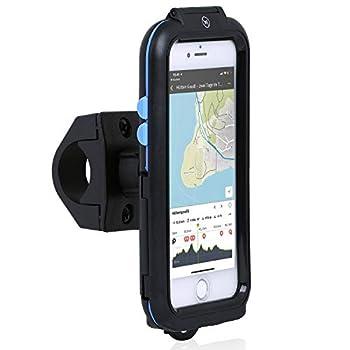 iPhone SE 2020 TourCASE: Wasserdichte IPX5 Schutzhülle und 360° drehbarer Fahrrad-Lenkeradapter mit Schnellverschluss 100% geeignet für iPhone SE (2020, 2. Gen), iPhone 8, iPhone 7, iPhone 6S und iPhone 6 BEDIENUNG: Das Sichtfenster auf der Rückseite...