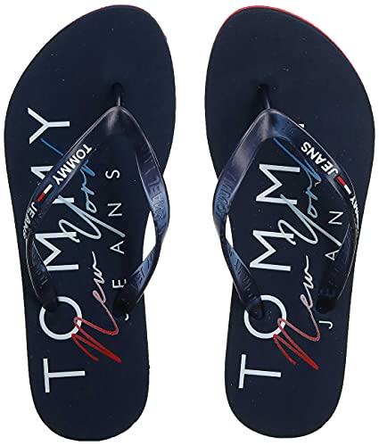 Tommy Jeans Ursula 4R1, Chanclas Mujer, Azul Marino, 42 EU