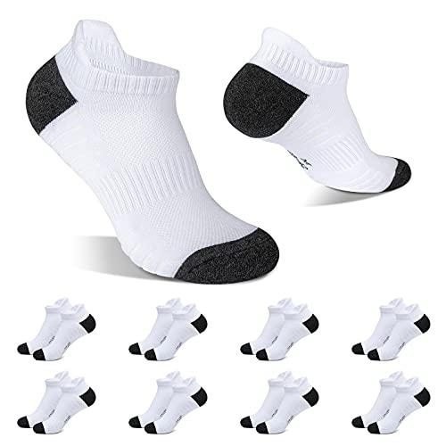 YINXIZ Calzini Uomo Bianco 43-46 Corti Calze Donna Corte 8 paia Cotone Sportive Traspirante