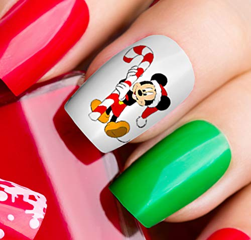 Mickey Mouse & Minne Mouse Christmas Nail Art Decals #1 - Salon Quality!