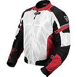 Pilot Motosport Men's Direct Air Mesh Motorcycle Jacket (V3) (White, Medium)
