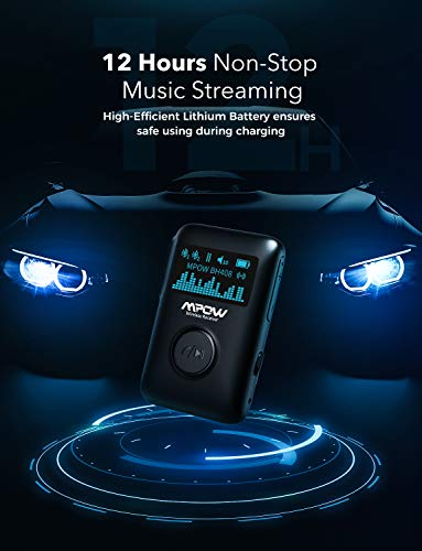 Product Image 5: Mpow Bluetooth Receiver, Bluetooth 5.0 Receiver with Display Screen, Bluetooth Aux Adapter with Noise Cancellation, 3D Surround Sound for Car Stereo