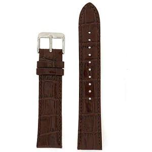 Seiko Genuine Textured Brown Leather Alligator Grain, No Color, Size No Size 16