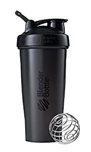 28-ounce capacity (note: measurements only go to 20 ounces) shaker cup for mixing protein shakes, smoothies, and supplements Patented mixing system uses 316 surgical-grade stainless steel BlenderBall wire whisk found only in BlenderBottle brand shake...