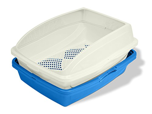 Van Ness CP5 Sifting Cat Pan/Litter Box with Frame, Blue/Gray,19'' x 15.13''