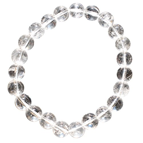 CHARGED Premium Amplifier Clear Quartz Crystal 8mm Bead...