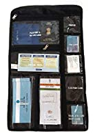 Perfect Organizer for keeping all your important documents at one place Comes with 9 different size pockets with respective document names written on it to better organize your items. All the compartments are secured with Zip closure or press buttons...