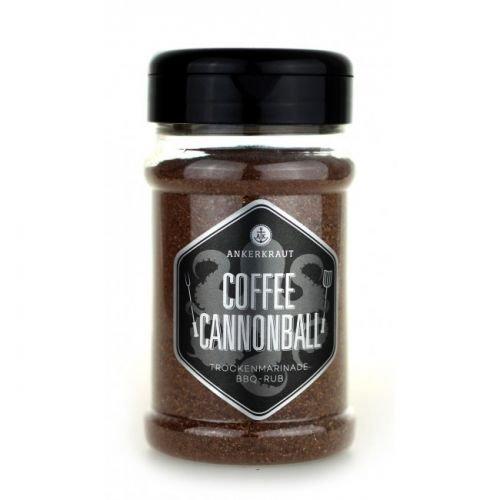 Ankerkraut Coffee Cannonball, BBQ Rub Gewürzmischung für Rind- oder Wildfleisch, 200g im Streuer