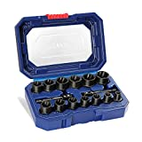"""WORKPRO 15 Pieces Impact Bolt & Nut Remover Set, 3/8"""" Drive Bolt Extractor for Removing Stripped, Damaged, Rounded off and Rusted Bolts & Nuts"""