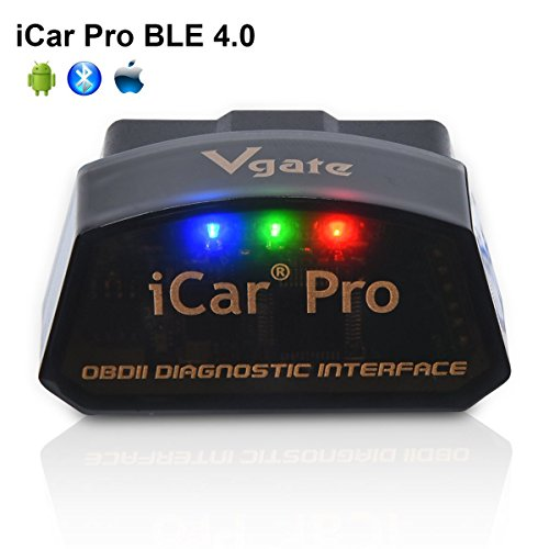 vgate iCar Pro BLE 4.0 OBD2 Diagnostic Tool Fault Code Reader OBDII ELM327 Compatible Car Adapter Check Engine Light for iOS iPhone iPad/Android