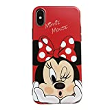 Soft TPU Red Minnie Mouse Case for iPhone XR 6.1 Inch 2018 Slim Sleek Fit Light Shockproof Shock Proof Protective Walt Dinsney Cartoon Polka Dots Bow Tie Cute Lovely Gift Kids Teens Girls