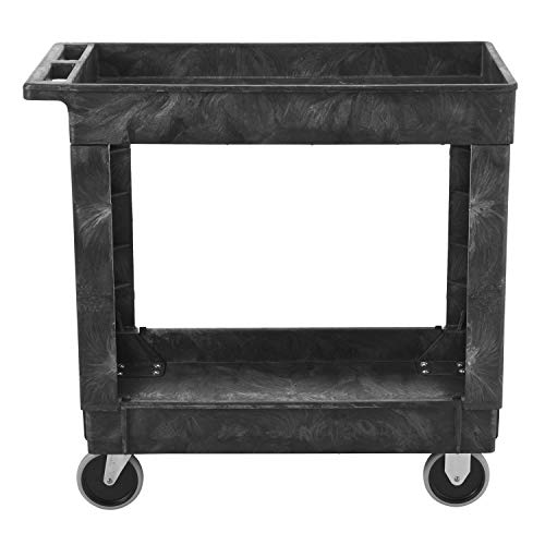Rubbermaid Commercial Products 2-Shelf Utility/Service Cart, Small, Lipped...