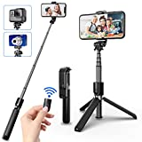 SYOSIN Perche Selfie Bluetooth, 3 en 1 Mini Trépied Smartphone Caméra...