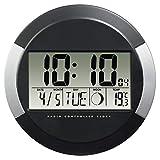 Hama Horloge murale 'PP-245' (radio-pilotée DCF, pendule sans tic tac,...
