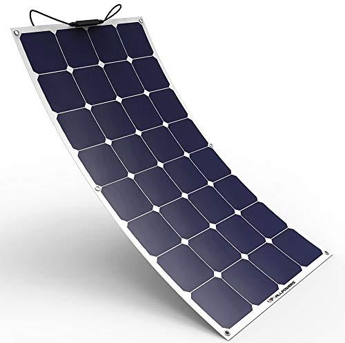 ソーラーチャージャー ALLPOWERS ソーラーパネル 100W 12V 18V 曲げ可能 SunPower 太陽光発電 高変換効率 超薄型 防水 耐衝撃 防塵 携帯便利 キャンピングカー 船舶 テント アウトドア 防災 ソーラー充電器