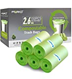 Small Trash Bags - FORID 2.6 Gallon Compostable Garbage Bags 150 Count Mini Strong Trash Can Liners...