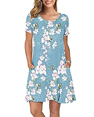 This simple random floral print go to dress is 95% Rayon and 5% Spandex. Price is fair, the fabric is very soft and stretchy, which makes it light and ideal for summer weather but heavy enough as to where you don't neec to worry about it flying up or...