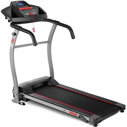 FITFIU Fitness MC-100 Tapis Roulant Pieghevole con Velocit Regolabile Fino A 10Km/H, Inclinazione Manuale, Superficie di Scorrimento 31X102Cm, Motore 900W e Schermo LCD