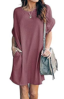 MATERIAL: Our casual dresses for women is made of polyester and spandex, breathable crochet fabric,soft and comfortable dress. SIZE: The size of this casual dresses for women has four sizes, small: US 2-4, medium: US 6-8, large: US 10-12, x-large: US...