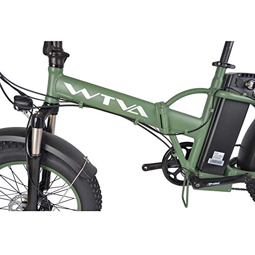 Product Image 3: Adult Electric Bike, 20 Inch Fat Tire Folding Electric Bicycles 48V 750W Motor 13AH Lithium-Ion Battery, Beach Snow Hunting City 7 Speed Cycling E-Bikes for Women Men (Green)