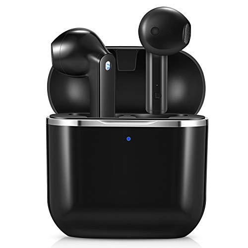 Ecouteur Bluetooth, yobola Ecouteurs sans Fil 5.1 Sport Étanche Hi-FI Son Stéréo, Contrôle Tactile, Microphones Intégrés, 25 Heures Durée de Lecture, pour iOS et Android Telephone