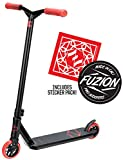 Fuzion Z250 Pro Scooters - Trick Scooter - Intermediate and Beginner Stunt Scooters for Kids 8 Years and Up, Teens and Adults – Durable Freestyle Kick Scooter for Boys and Girls (2020 - Black/Red)