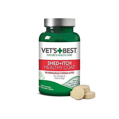 Vet's Best Healthy Coat Shed & Itch Relief Dog...