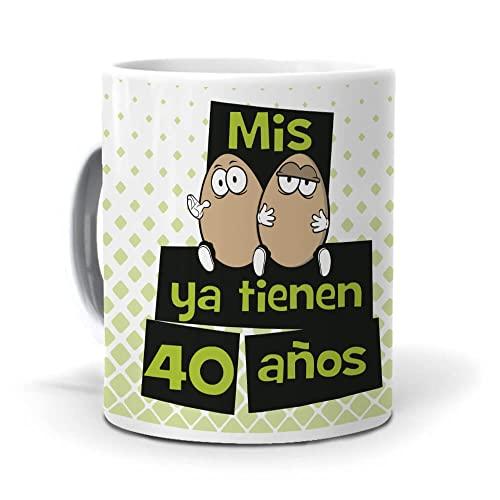 mundohuevo Taza Mis Huevos ya Tienen 40 años Version