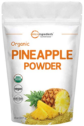 Micro Ingredients Organic Pineapple Powder, 8 Ounce, Rich in...