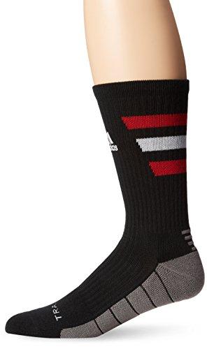 adidas Team Speed Traxion Crew Socks, Intense Pink/Black/White, Large