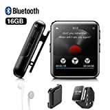 Lecteur MP3 BENJIE 16Go Bluetooth Lecteur MP3 1,5'Sport Écran Tactile...