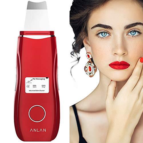 ANLAN Peeling Ultrasónico Facial con 5 Modos, LCD Pantalla, USB Recargable, Equipo de...