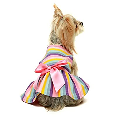 """DO NOT fit any medium or large dog breeds. Please priority follw the chest size. Size Medium, fits 14"""" back, 16"""" chest. Recommended for Bichon, Fox Terrier, Jack Russel, Scottie Made of 100% Cotton, soft, comfortable and breathable, super friendly to..."""