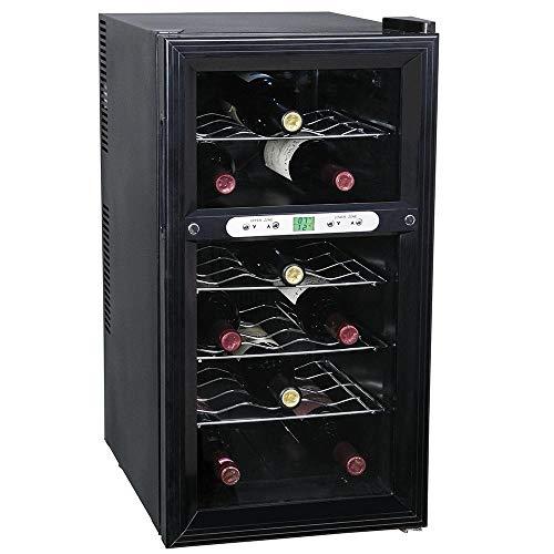 BAKAJI Cantina Refrigerante Bottiglie di Vino 2 Zone Cantinetta Frigo Elettrica con 18...