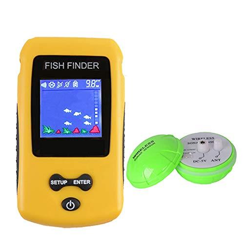 CARACHOME Fishfinder, ecoscandaglio Portatile con sensore Sonar Wireless e Monitor LCD Portatile per Pesca in Lago, Fiume, Mare e sul Ghiaccio