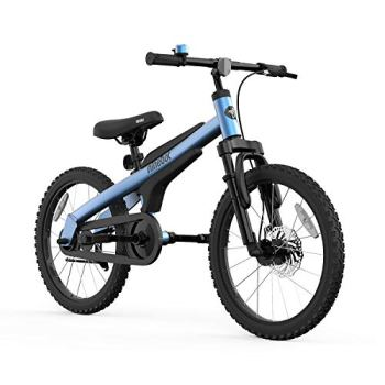 Segway Ninebot Kid's Bike for Boys and Girls, 18 inch with Kickstand, Blue