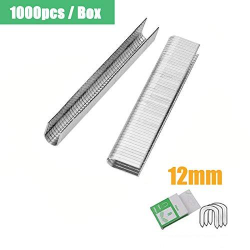 Punti metallici tipo U SENRISE 12 mm robusti chiodi standard universali per decorazione,...