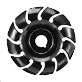 90mm Grinder Shaping Disc 16mm Bore 12 Teeth Manganese Steel Wood Carving Disc for 100 115 Angle Grinder Woodworking (16mm Bore)