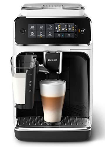Philips 3200 Serie EP3243/50 Kaffeevollautomat, 5 Kaffeespezialitäten (LatteGo Milchsystem) weiß/klavierlack schwarz