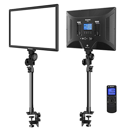 Dazzne Desk Mount LED Video Light C-Clamp Stand Kit 2 Pack 15.4' Large...