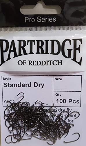 Partridge - Ami da Pesca a Mosca SLD2-100 Pezzi  Senza Morte (barbless), 16