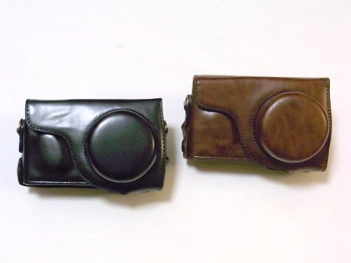 SIGMA DP1 Merrill DP2 Merrill 専用 高級合皮レザー カメラケース ネックストラップ,クリーニングクロス付き【Etimオリジナル商品】シグマ DP1M DP2M 59_1 (ブラウン)