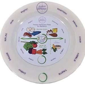 "Bariatric Melamine Portion Control Plate 8"" For Weight Loss After Surgery. Health Eating Educational Visual Tool For Gastric Sleeve, Bypass Or Band With Protein, Carbs And Vegetables 12 - My Weight Loss Today"