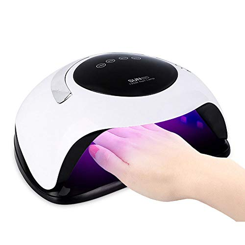 Saibit 120W UV Light LED Nail Dryer Fast Curing Lamp for Gel Nail Polish and Toe Nail Curing with Automatic Sensor (120W)