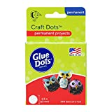 Glue Dots Double-Sided Craft Dots, 1/2'', Clear, Roll of 200 (08165E)