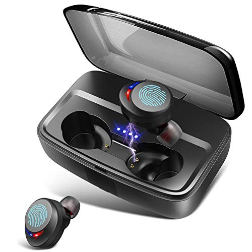 Wireless Headphones Bluetooth Earphones IPX8 Waterproof Deep Bass Stereo Sound Wireless Earbuds Built-in Mic Bluetooth 5.0 Earbuds with 3000mah Charging Case