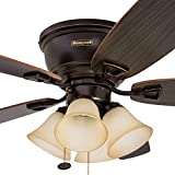 Honeywell Ceiling Fans 50183 Glen Alden Ceiling Fan, Bronze