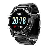 GOKOO Smart Watch for Men Women with Heart Rate Blood Pressure Sleep Monitor IP67 Waterproof Activity Tracker Notification Camera Music Control (Brown)