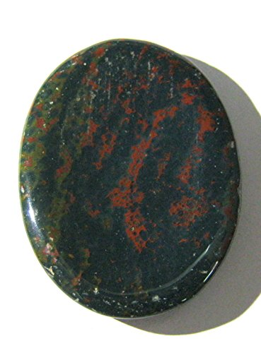 CRYSTALMIRACLE Exclusive Bloodstone Worry Stone Thumb Stone...