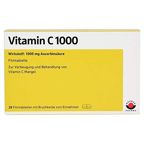 WÖRWAG Pharma Vitamin C 1000 Filmtabletten, 20 St. Tabletten